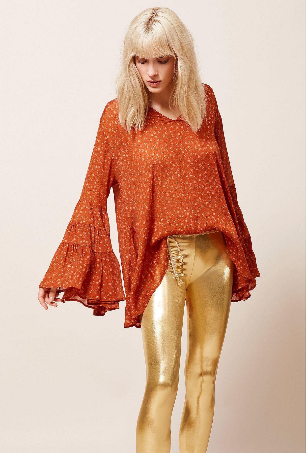Blouse Orange  Fiorella mes demoiselles paris vêtement femme paris