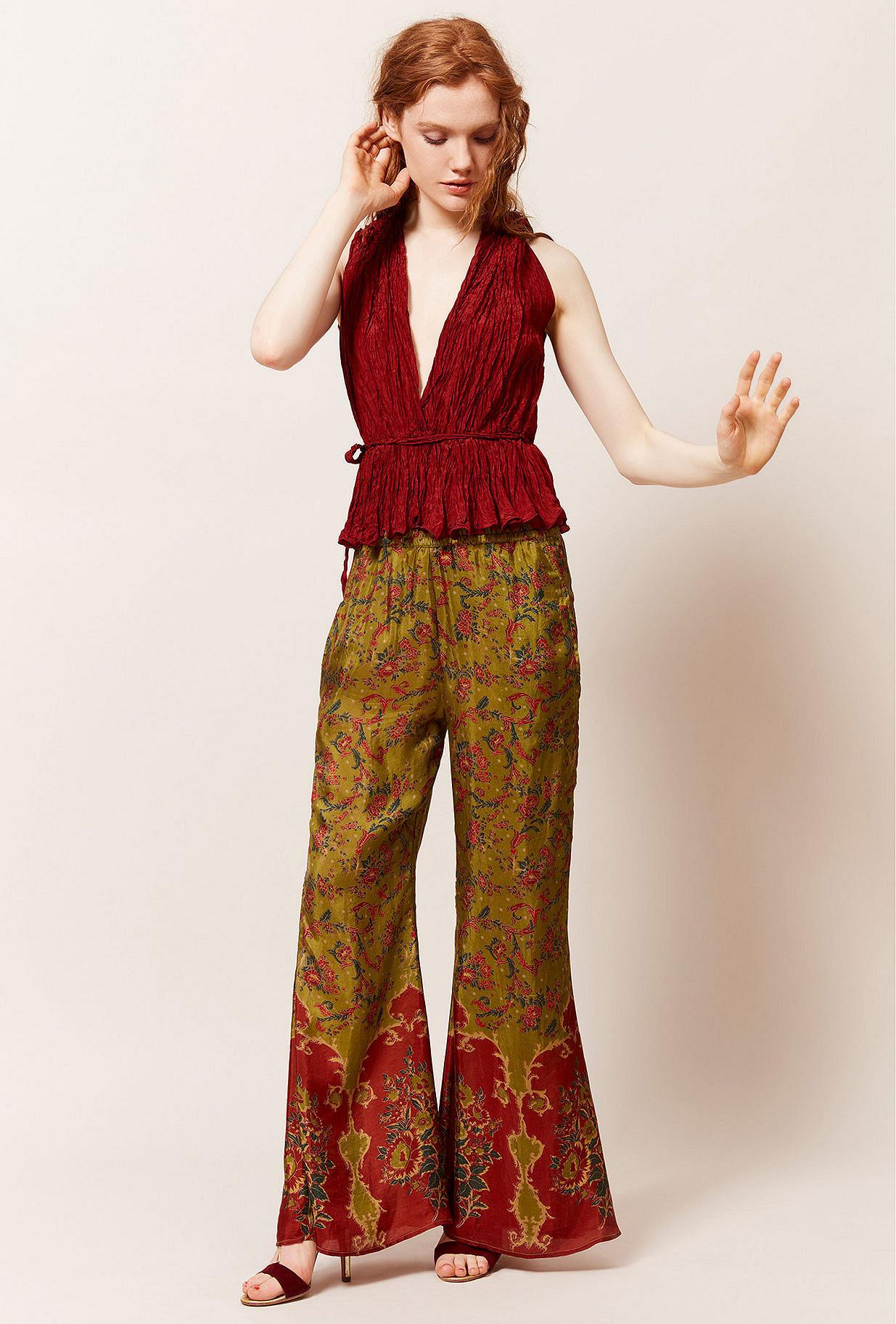 Green print  Pant  Django Mes demoiselles fashion clothes designer Paris