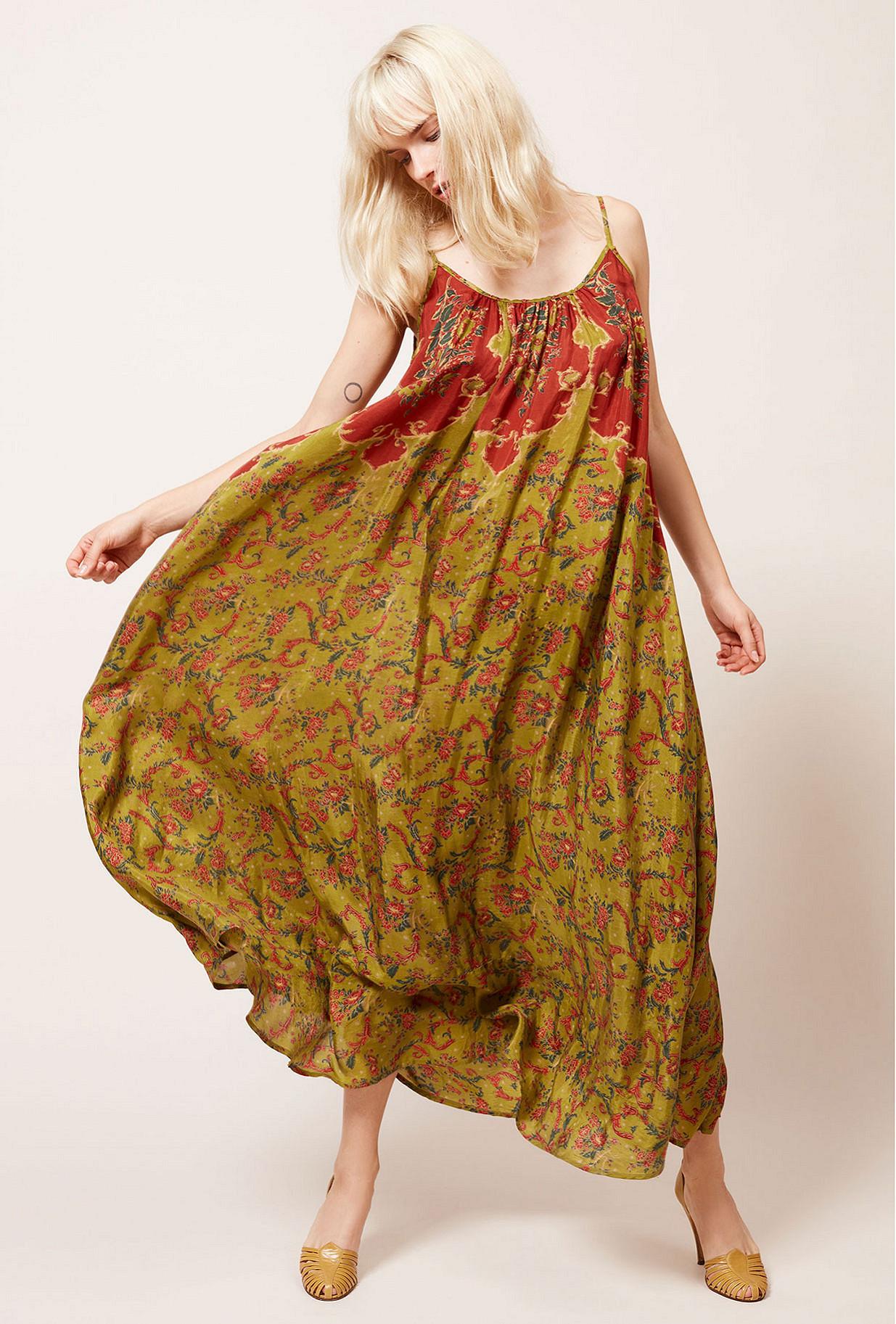 Green print  Dress  Dalila Mes demoiselles fashion clothes designer Paris