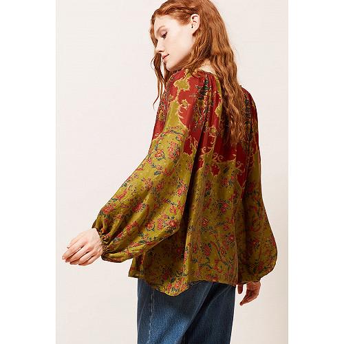 Green print  Blouse  Dolores Mes demoiselles fashion clothes designer Paris