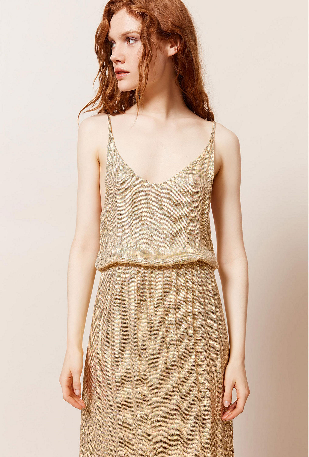 Gold Dress Philo Mes Demoiselles Paris