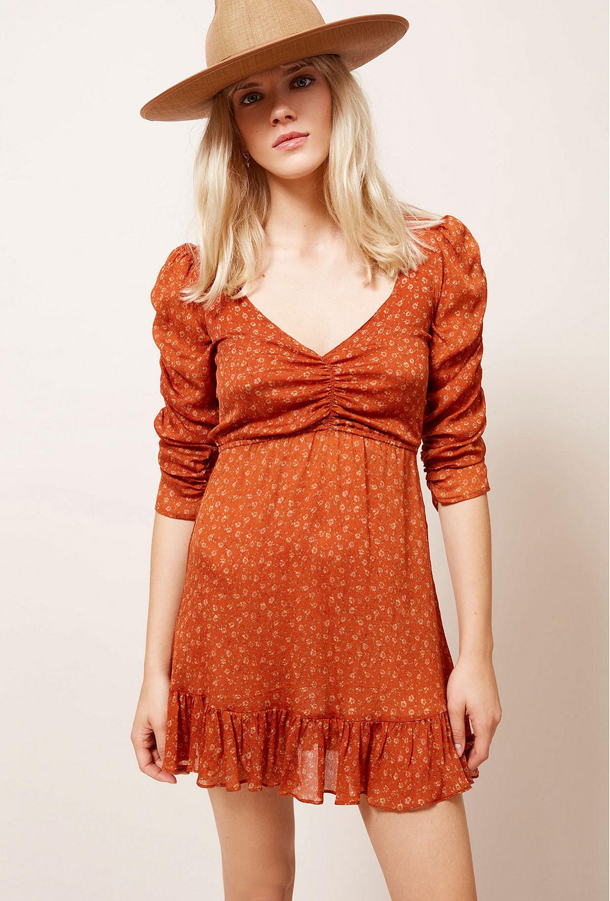 Robe Orange  Francesca mes demoiselles paris vêtement femme paris