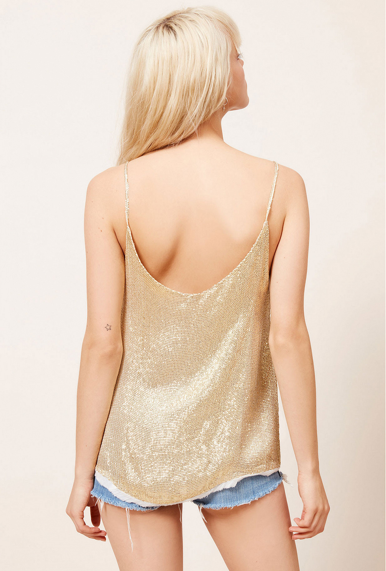 Gold  Top  Photon Mes demoiselles fashion clothes designer Paris