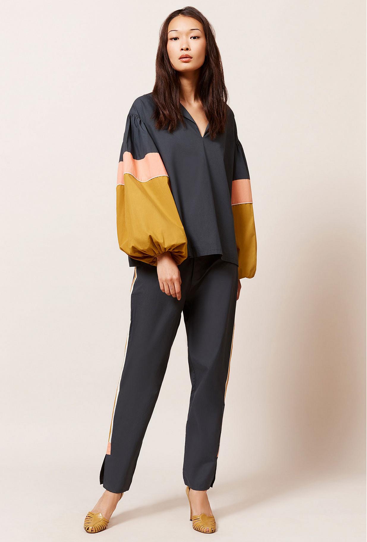 Black  Blouse  Priam Mes demoiselles fashion clothes designer Paris