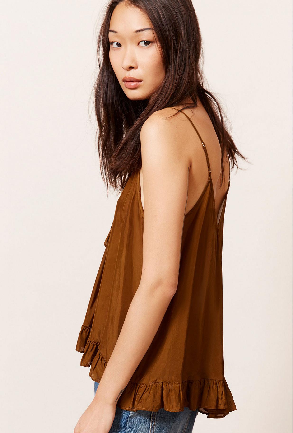 Khaki  Top  Habou Mes demoiselles fashion clothes designer Paris