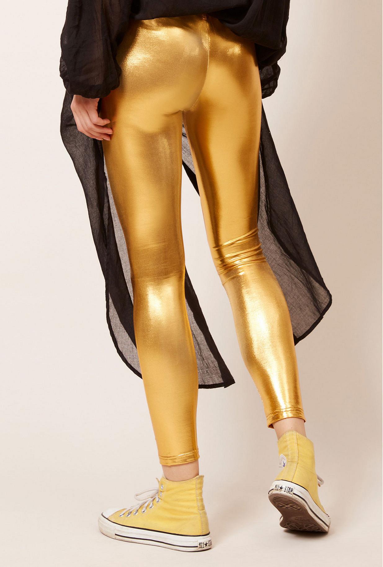 Gold  Pant  Krypton Mes demoiselles fashion clothes designer Paris