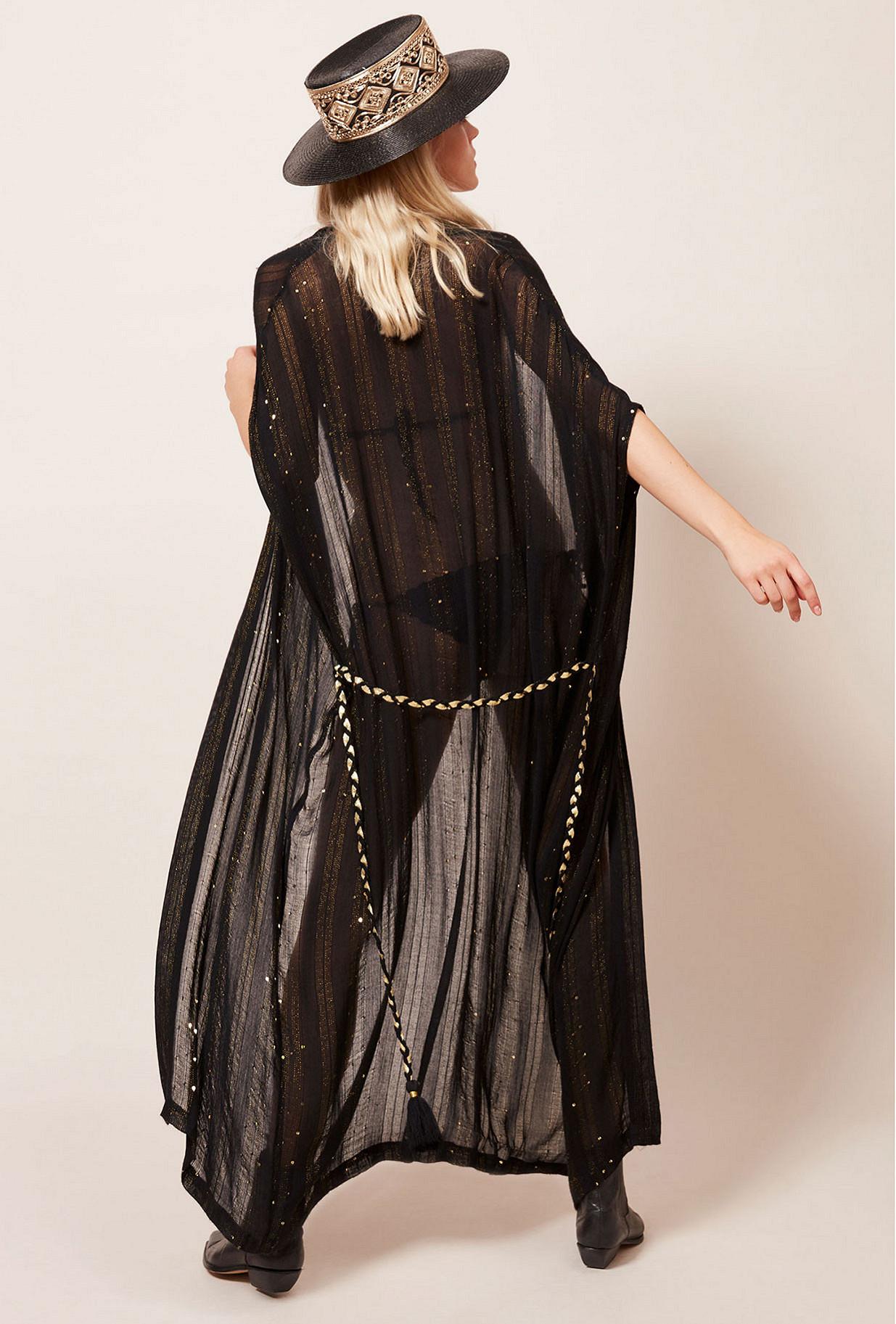 Kimono Noir  Nahima mes demoiselles paris vêtement femme paris