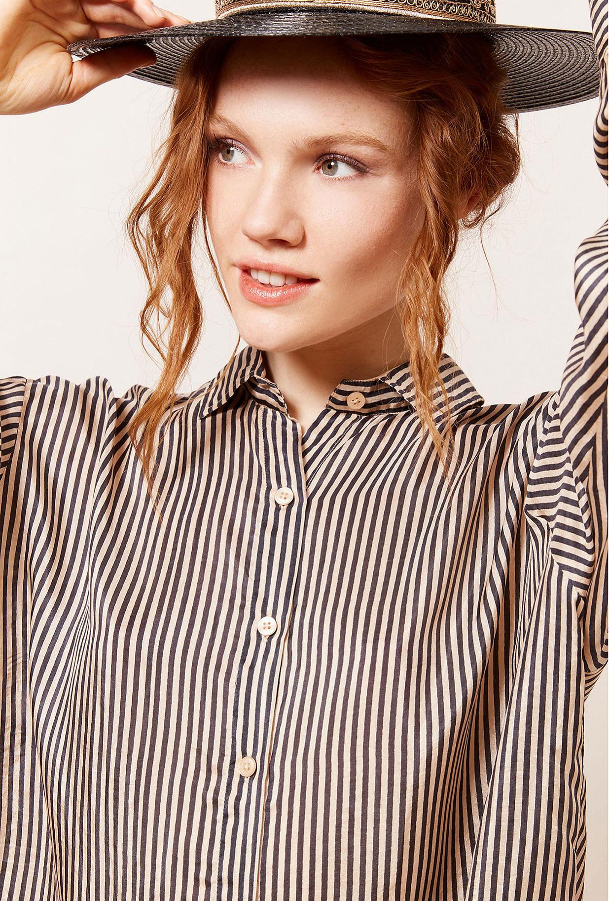 Black stripe  Shirt  Bayard Mes demoiselles fashion clothes designer Paris