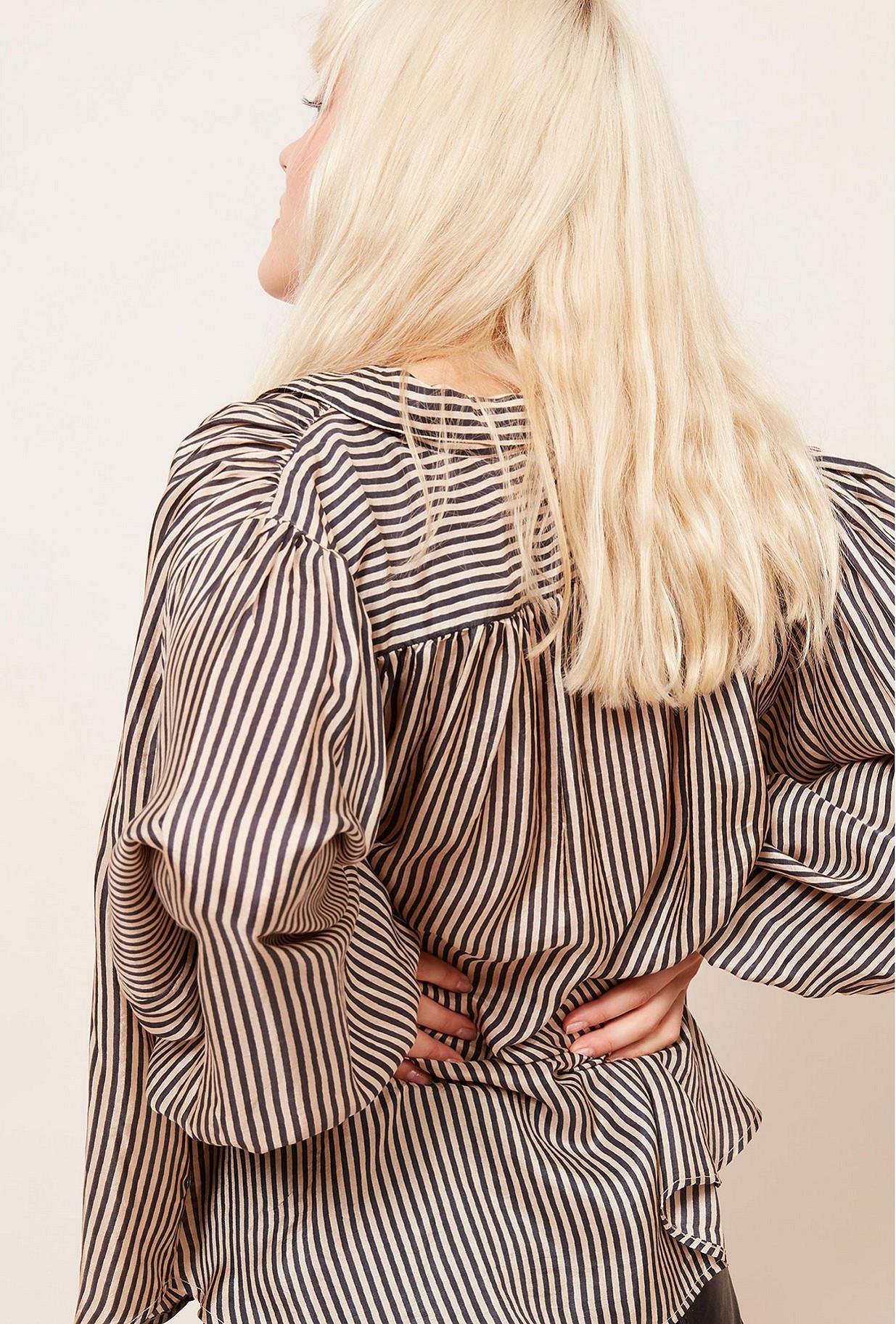Black stripe Blouse Bartholome