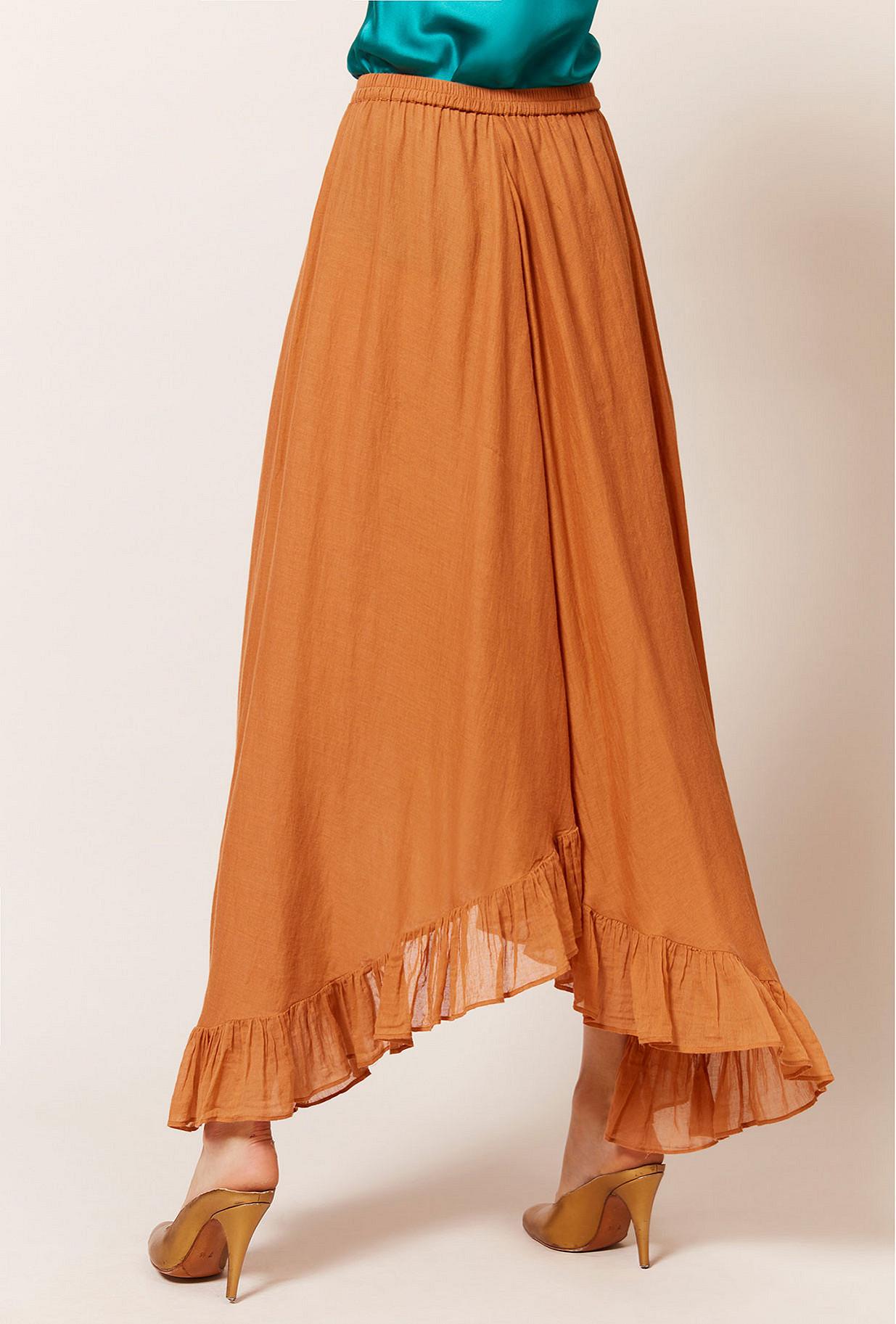 Terracotta  Skirt  Otello Mes demoiselles fashion clothes designer Paris