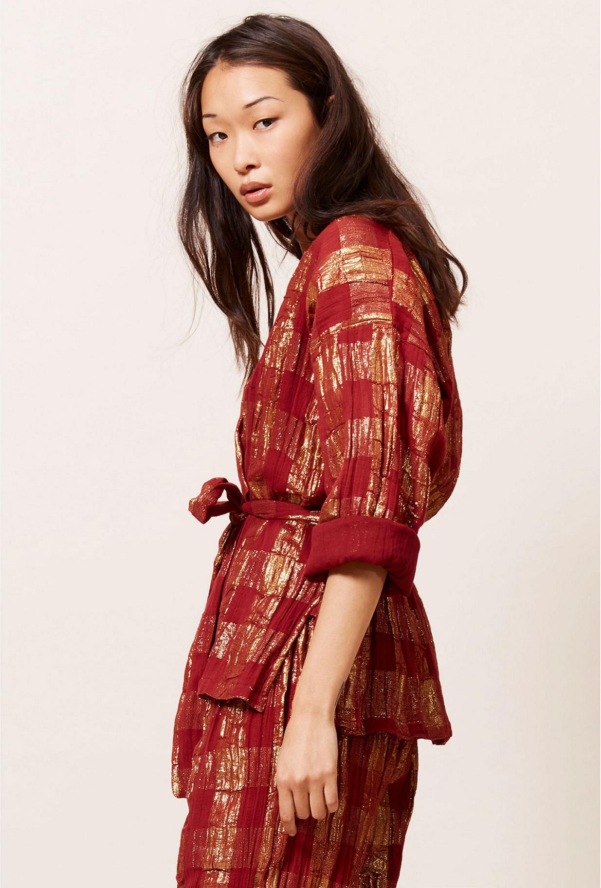 Kimono Rouge  Magique mes demoiselles paris vêtement femme paris