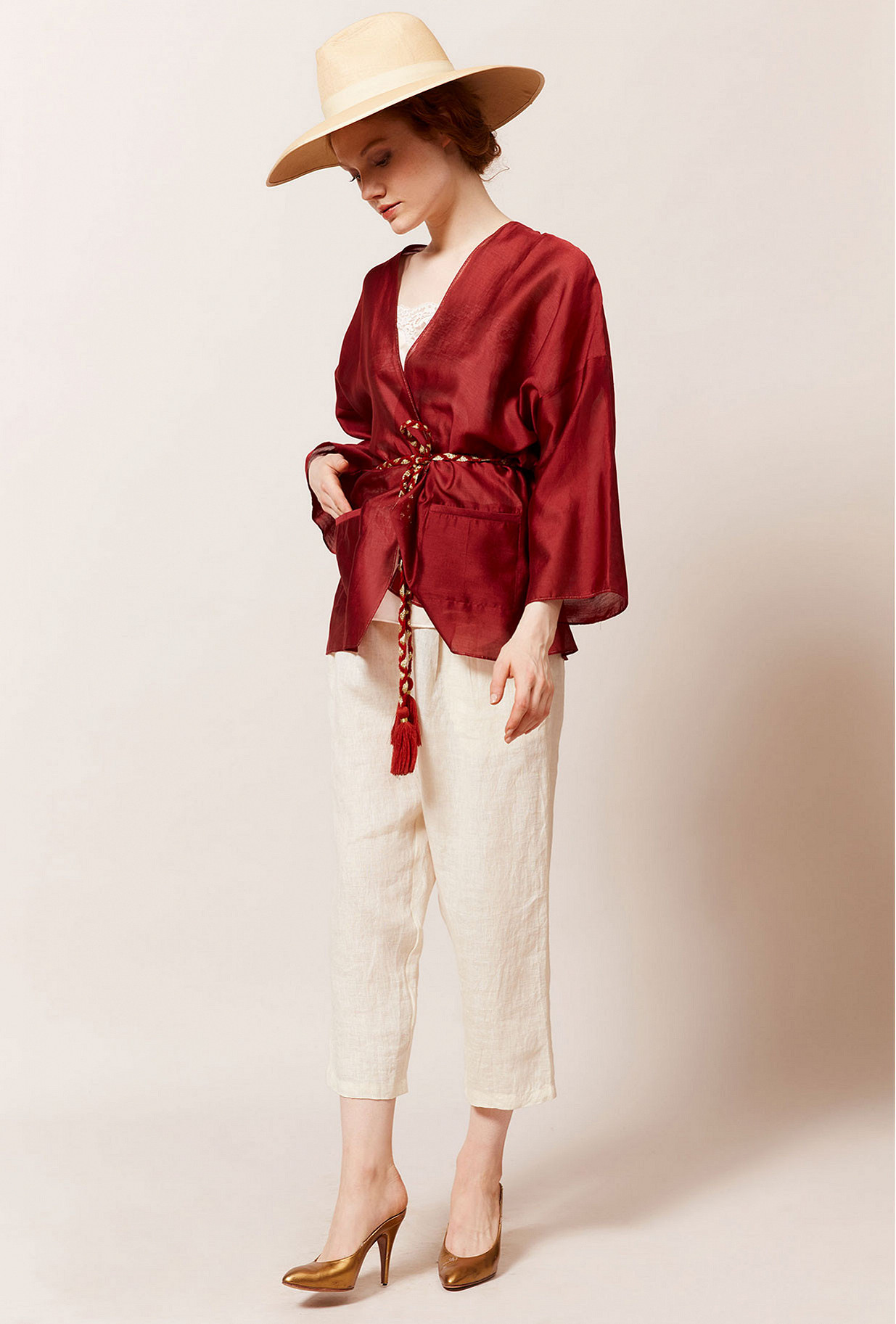 Red  Kimono  Opium Mes demoiselles fashion clothes designer Paris