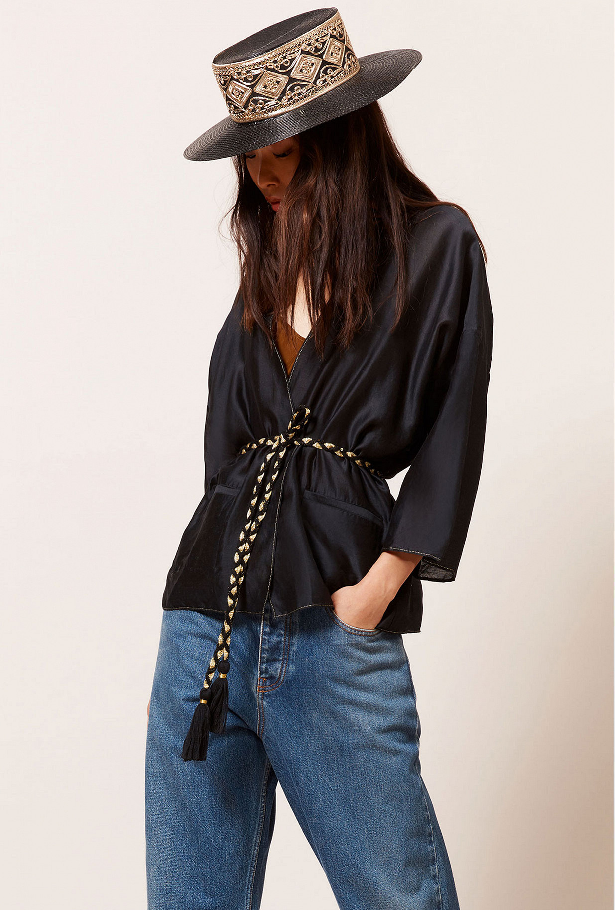 Black  Kimono  Opium Mes demoiselles fashion clothes designer Paris