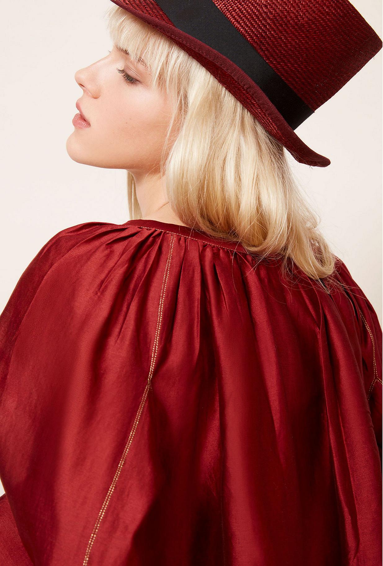 Red Blouse Onagre Mes Demoiselles Paris