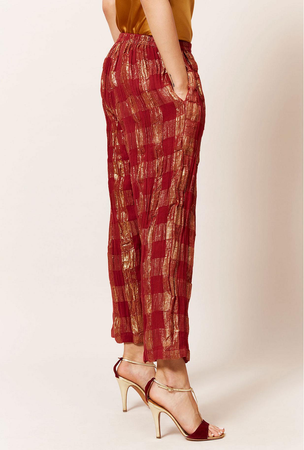Red  Pant  Majeste Mes demoiselles fashion clothes designer Paris