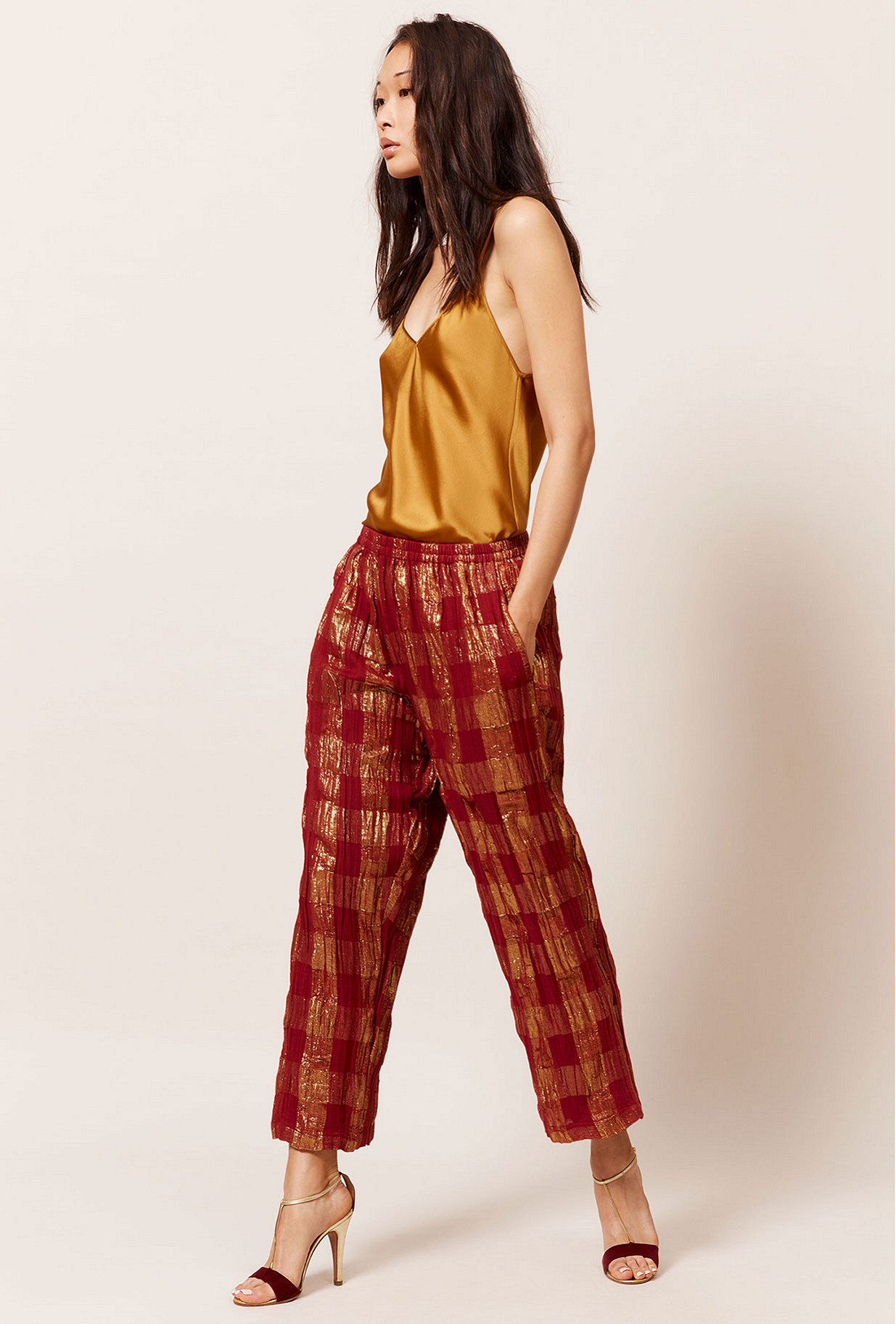Pantalon Rouge  Majeste mes demoiselles paris vêtement femme paris