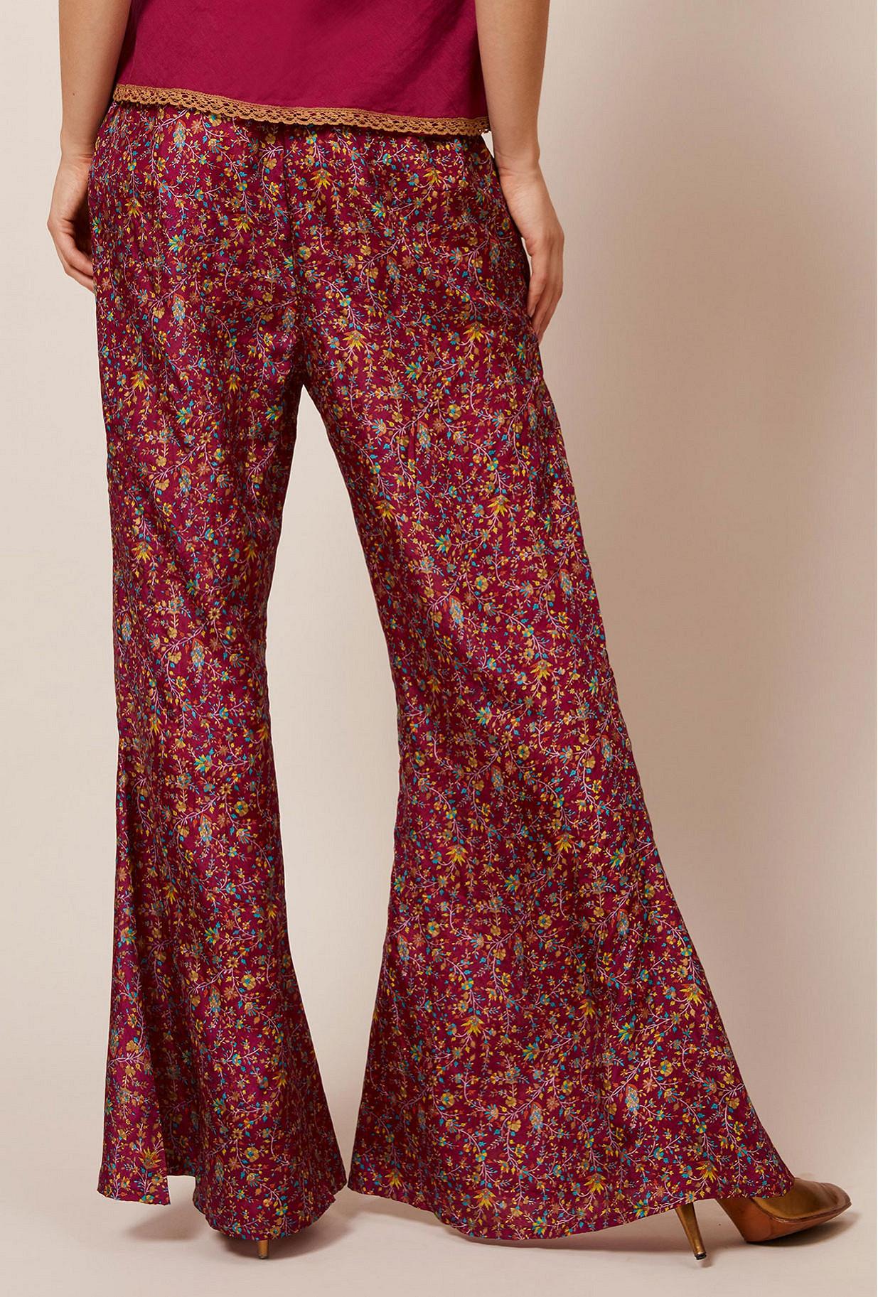 Pantalon Imprimé fleuri  Campanule mes demoiselles paris vêtement femme paris
