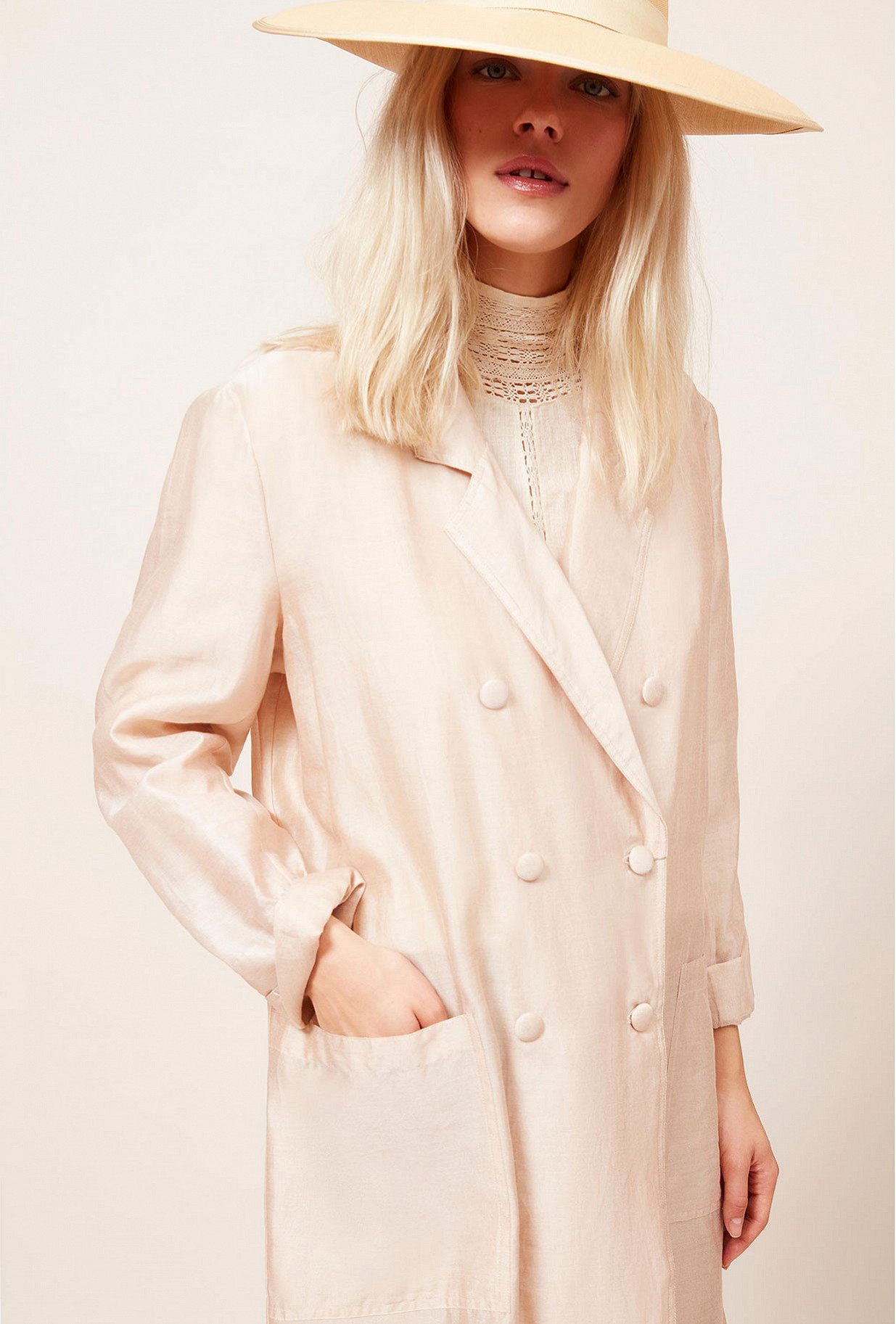 Paris clothes store Coat  Oxygene french designer fashion Paris