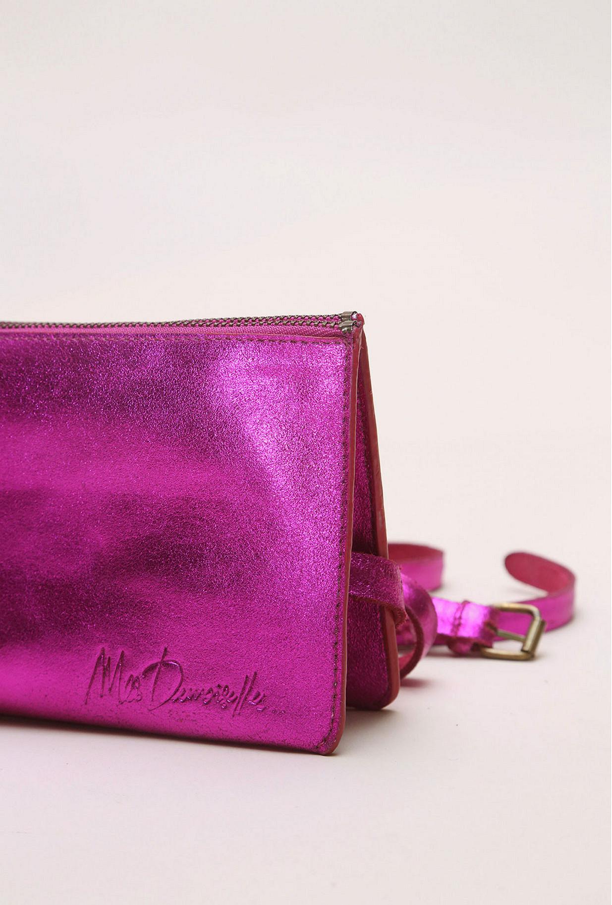 Fushia  Bag  Double Touch Mes demoiselles fashion clothes designer Paris