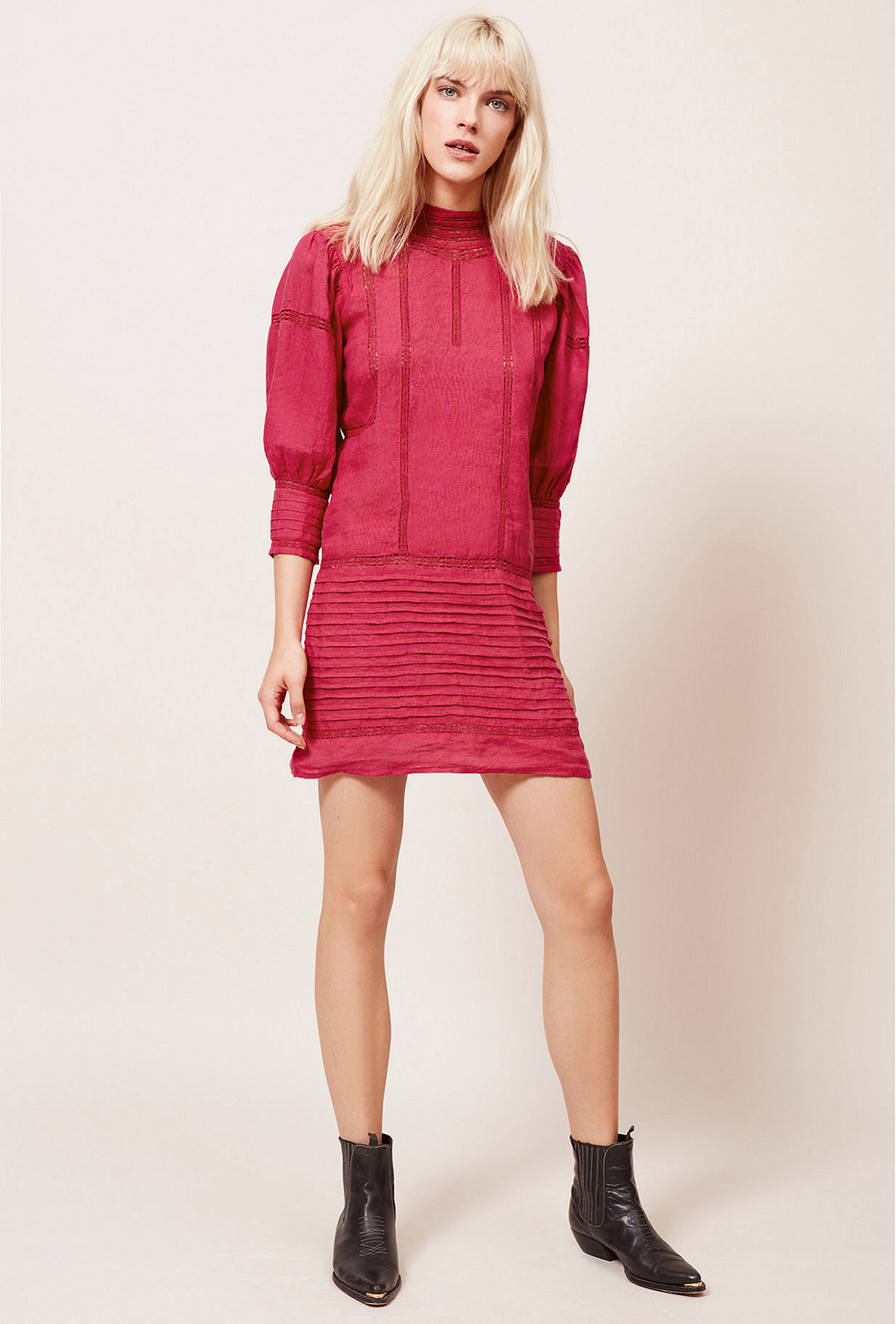 Fushia  Dress  Bianca Mes demoiselles fashion clothes designer Paris