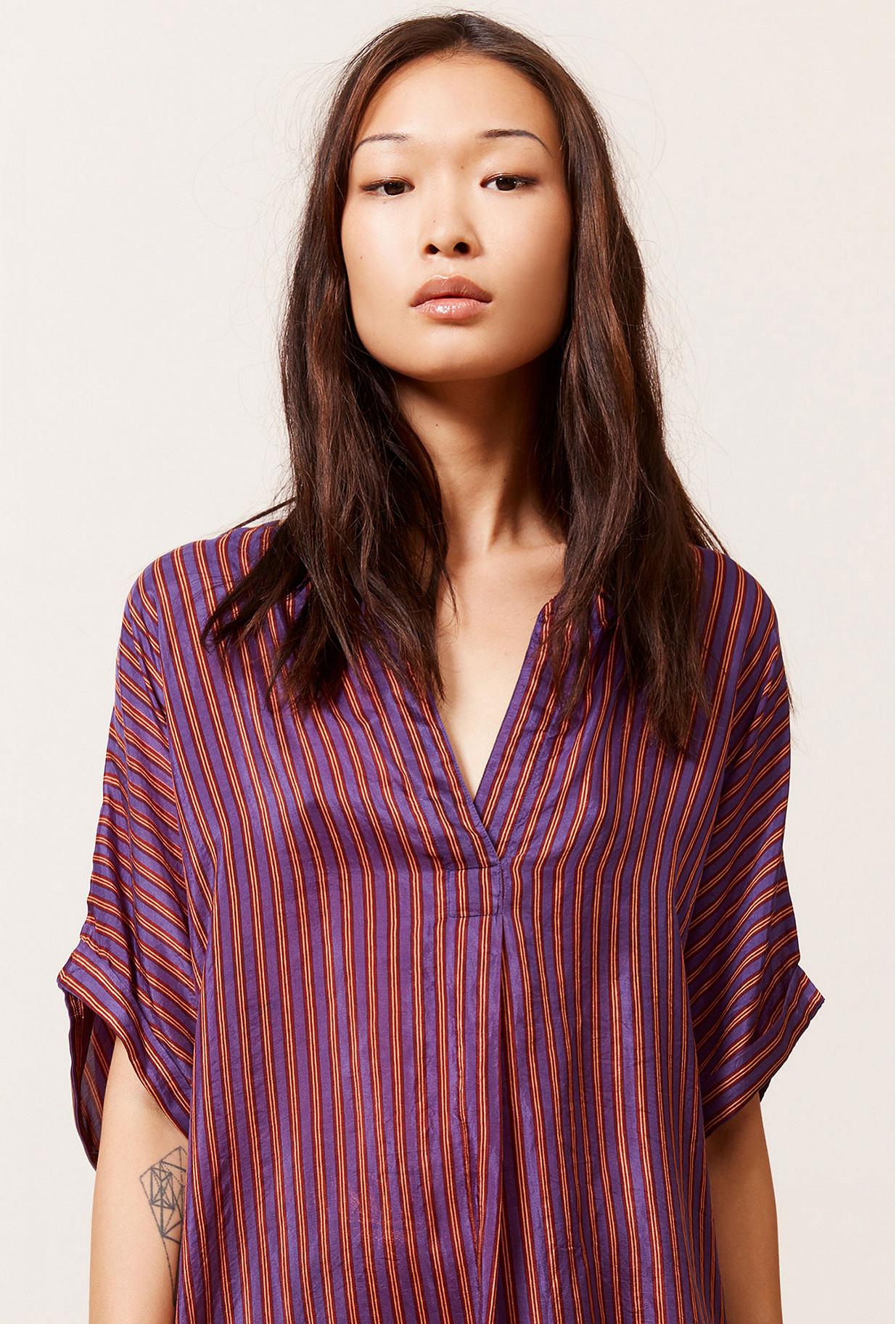 Purple stripe Blouse Spalding Mes Demoiselles Paris