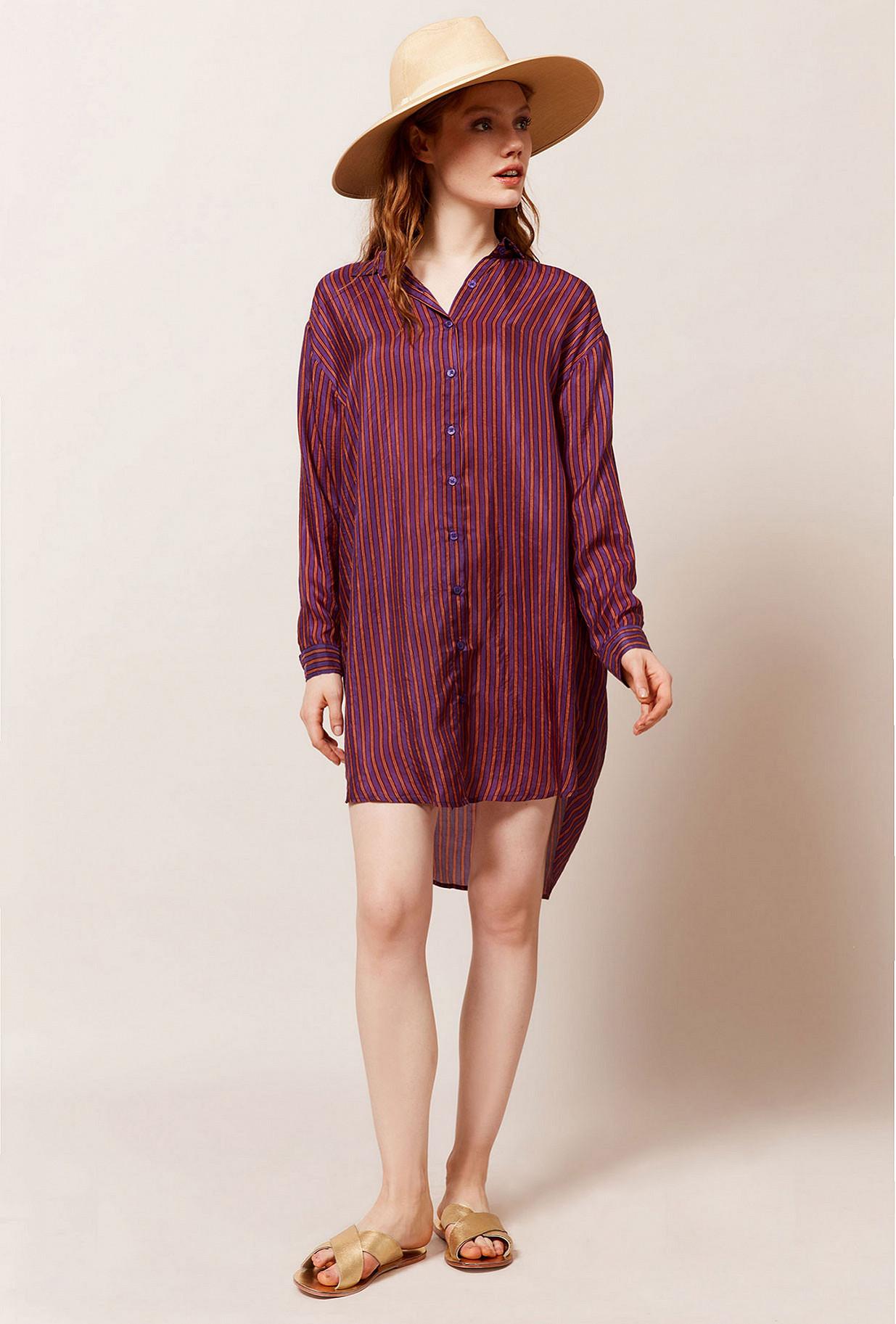 Purple stripe Shirt Sox