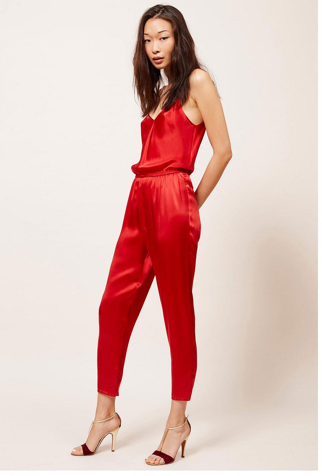 Red  Jumpsuit  Noche Mes demoiselles fashion clothes designer Paris