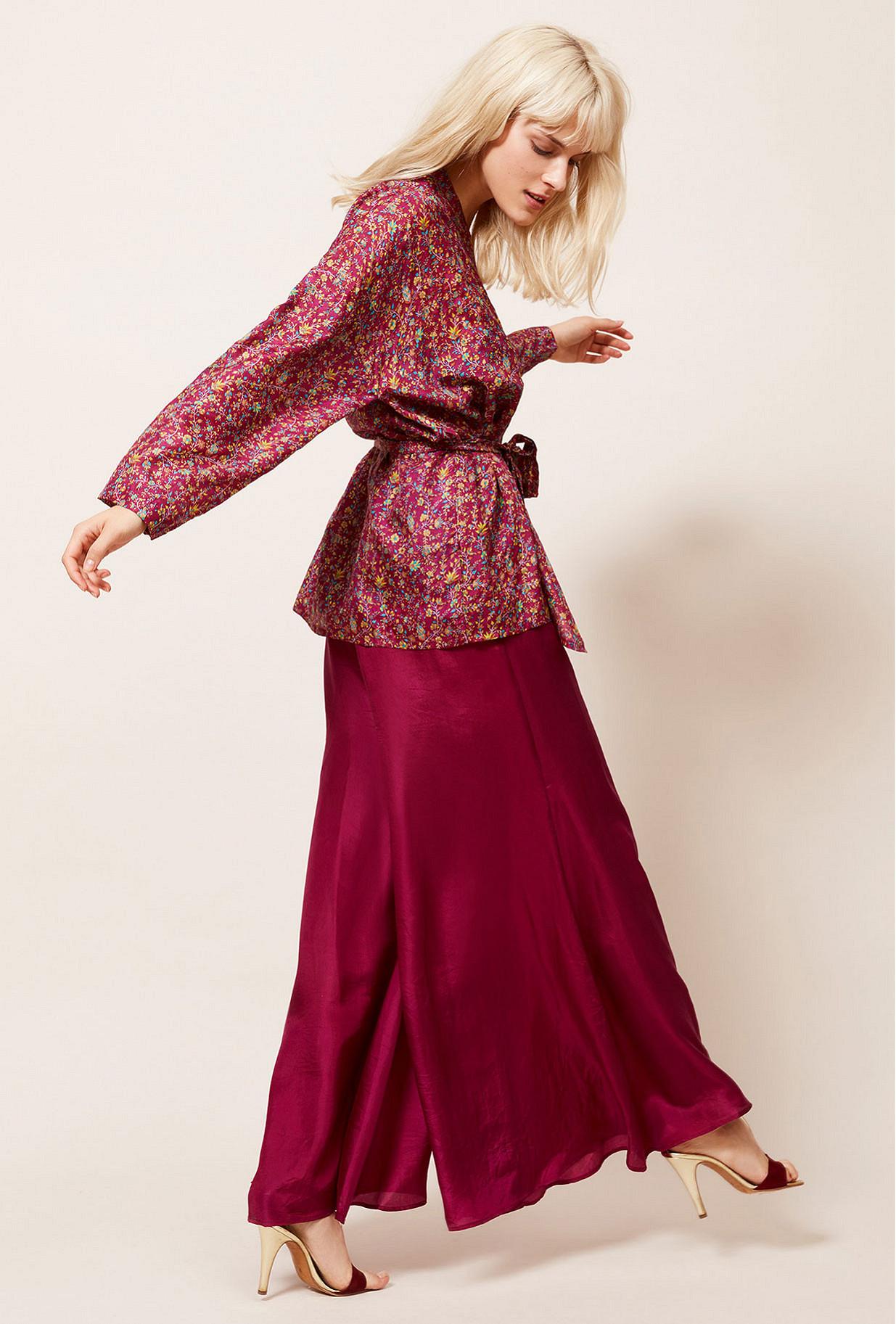 Kimono Imprimé violet  Coquette mes demoiselles paris vêtement femme paris