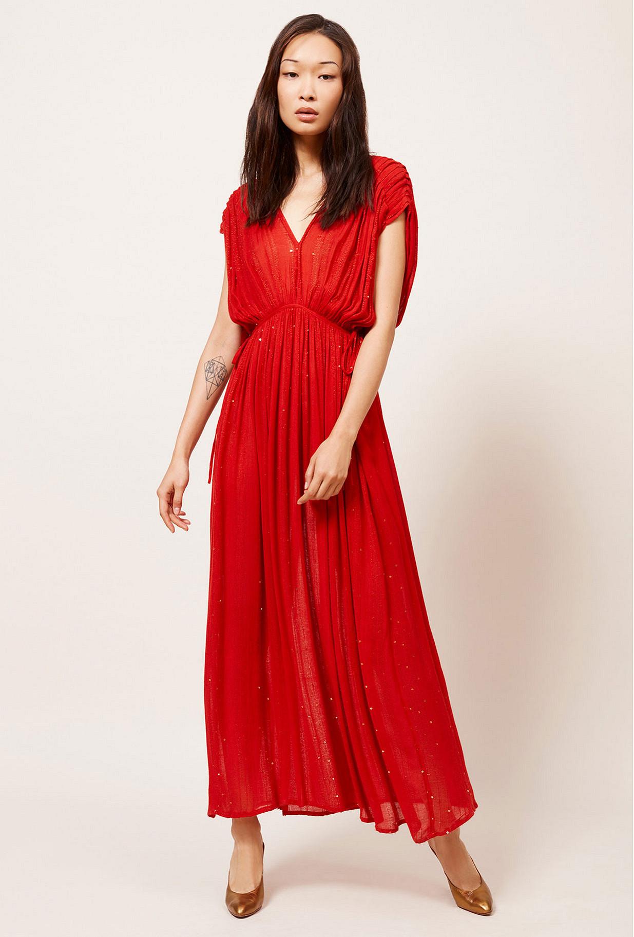 Red  Dress  Nokomis Mes demoiselles fashion clothes designer Paris