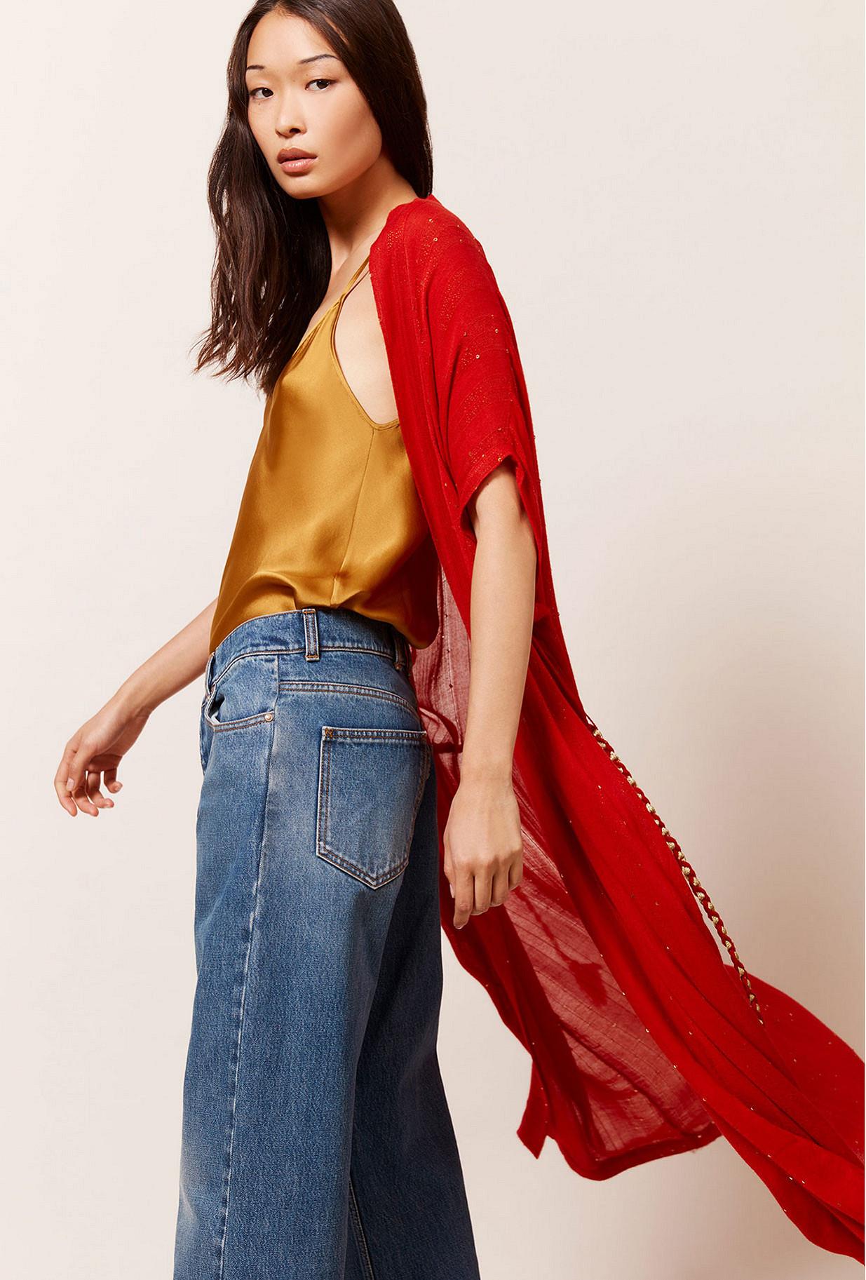 Kimono Rouge  Nahima mes demoiselles paris vêtement femme paris