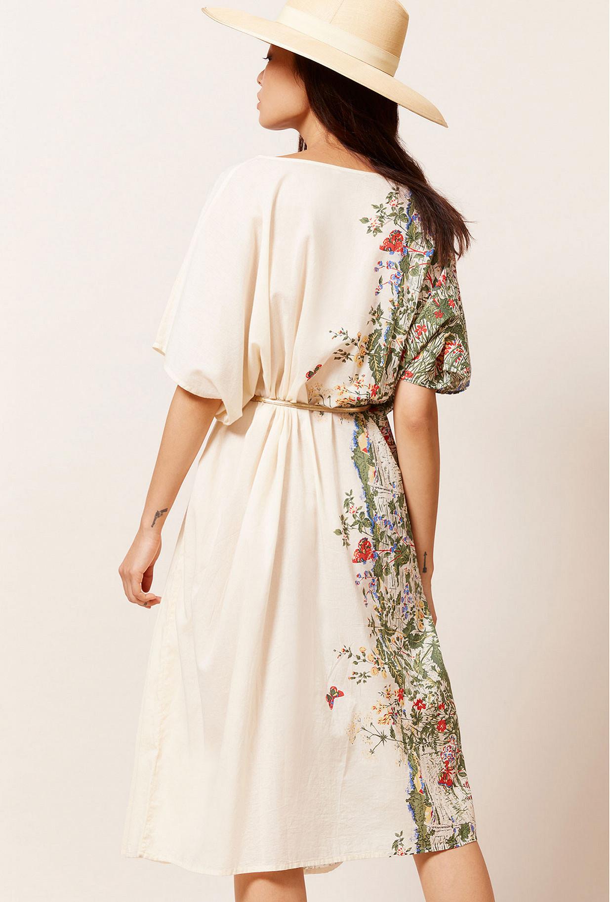 Floral print  Dress  Gwenola Mes demoiselles fashion clothes designer Paris