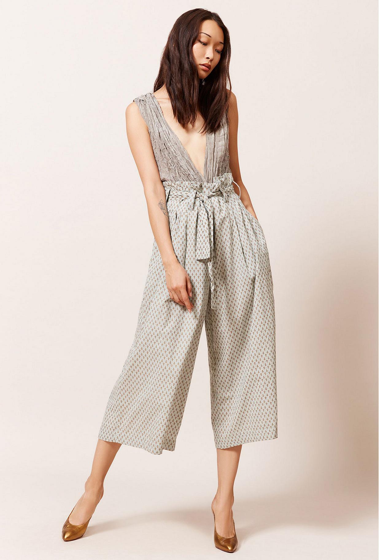 Blue  Pant  Chatelain Mes demoiselles fashion clothes designer Paris