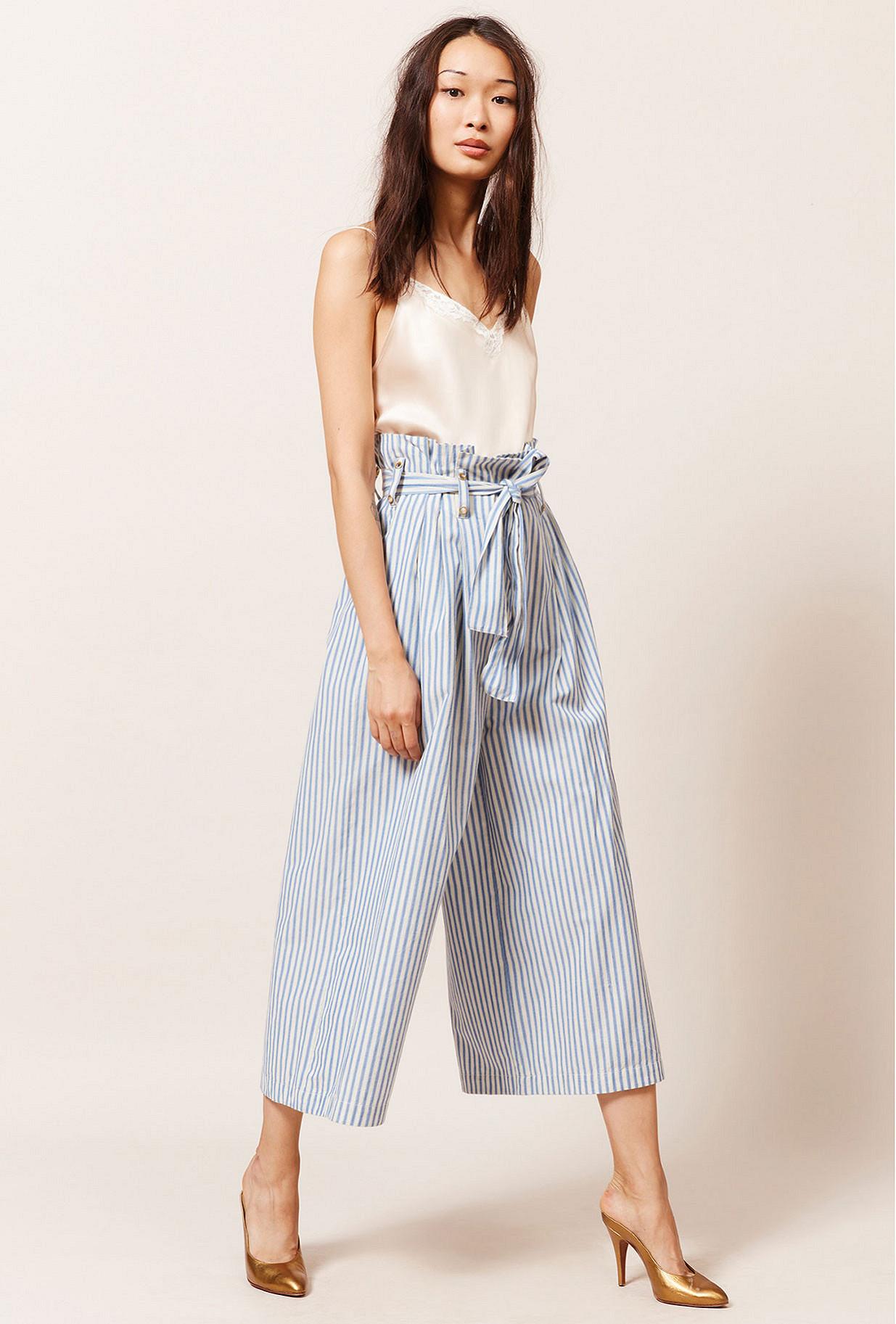 Blue stripe  Pant  Commons Mes demoiselles fashion clothes designer Paris