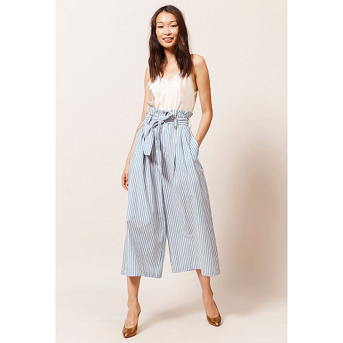 Pantalon Rayé bleu  Commons mes demoiselles paris vêtement femme paris