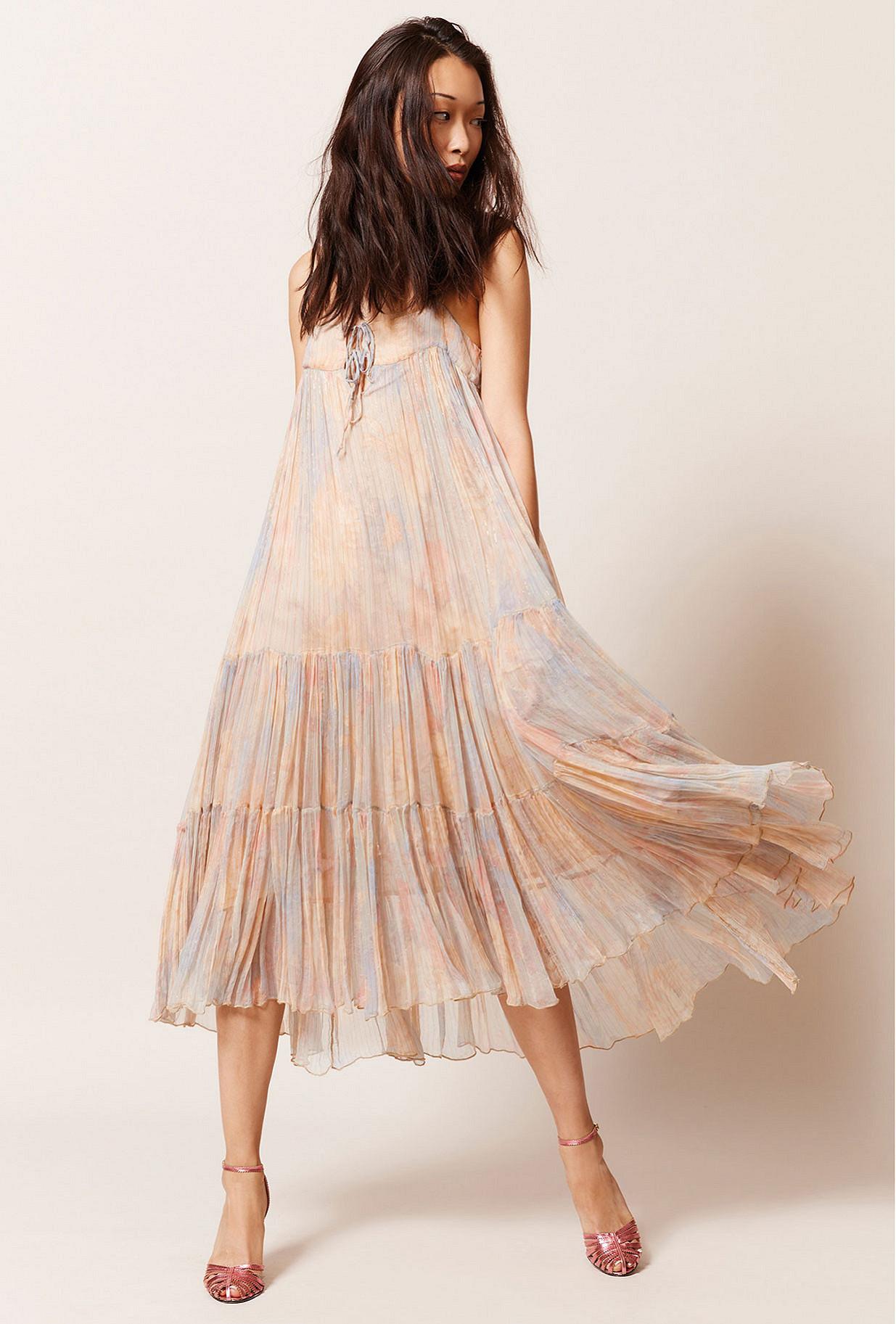Pastel print  Dress  Pavot Mes demoiselles fashion clothes designer Paris