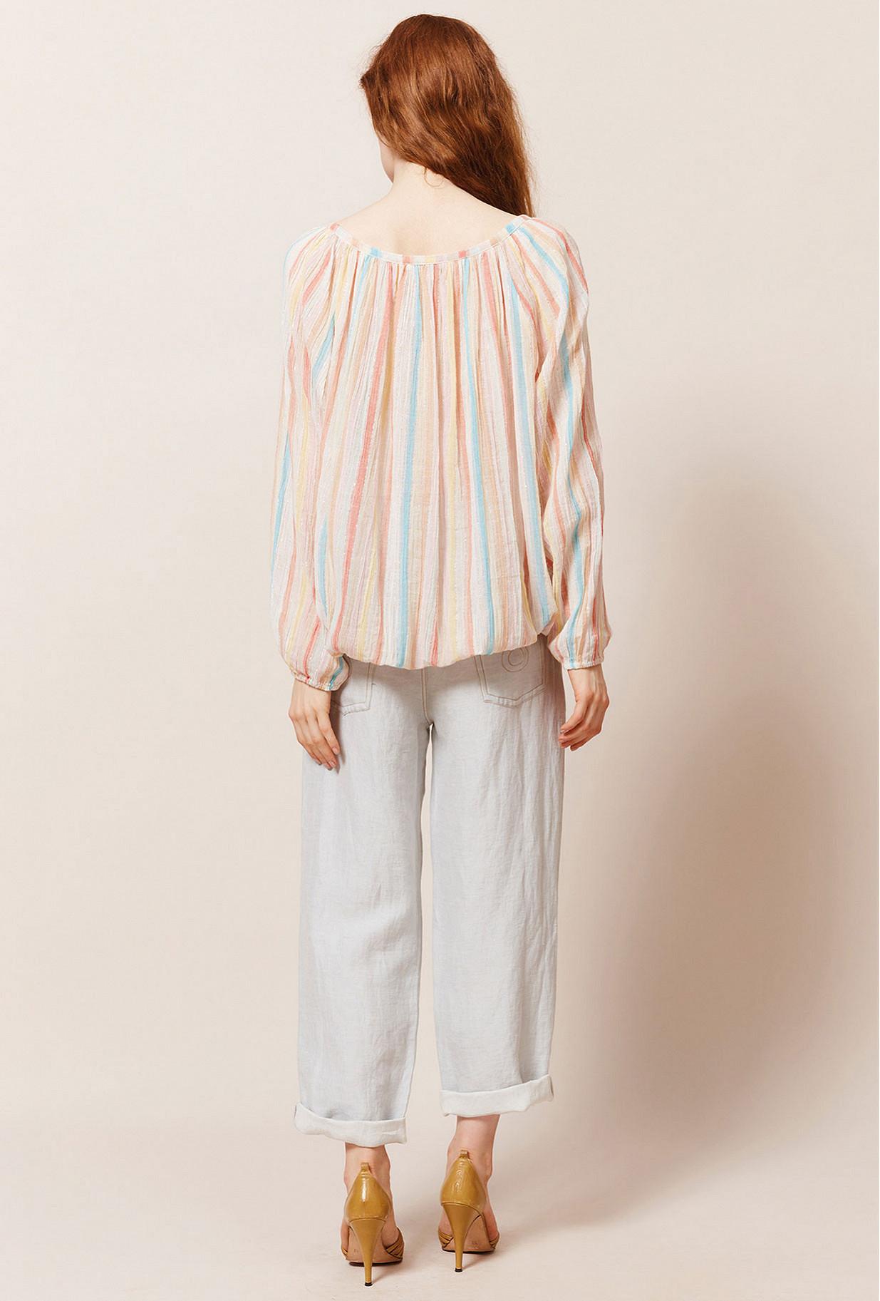 Ecru print  Blouse  Rosita Mes demoiselles fashion clothes designer Paris