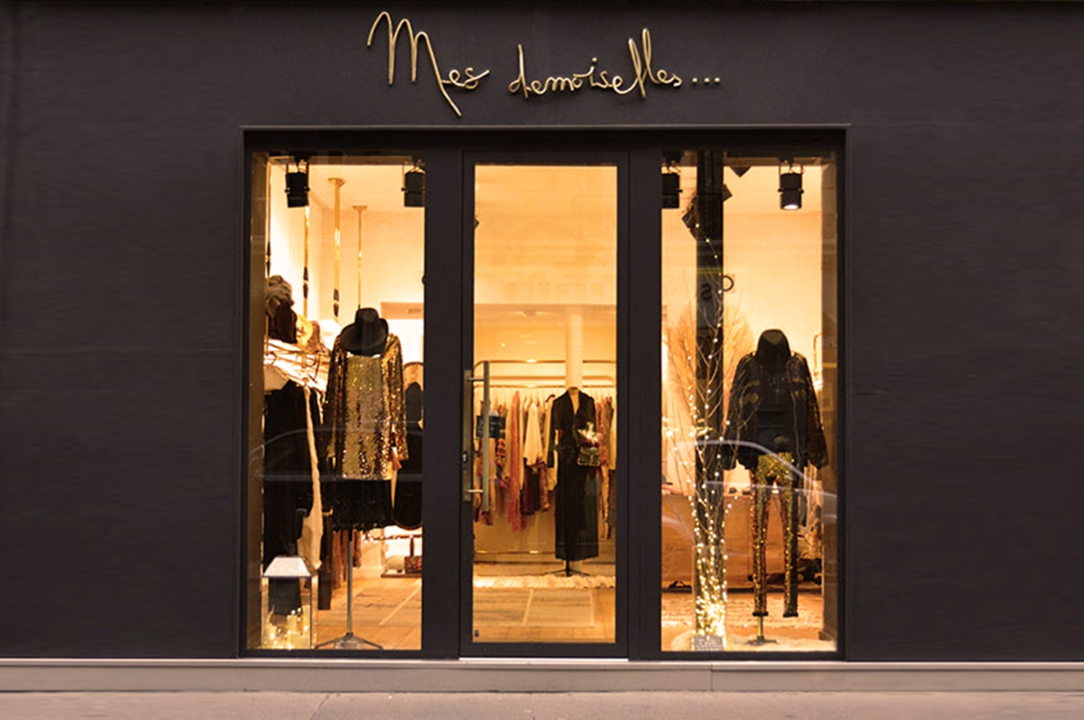 Boutique mesdemoiselles paris devanture fashion