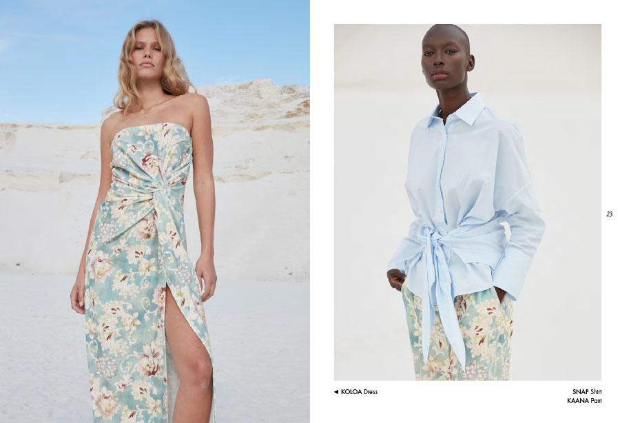 Mes Demoiselles – Dress Koloa, shirt Snap and pant Kaana