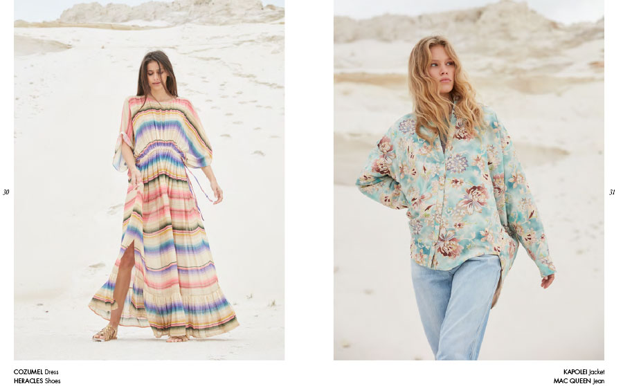 Mes Demoiselles – Dress Cozumel, shoes Heracles, jacket Kapolei and jean Mac Queen
