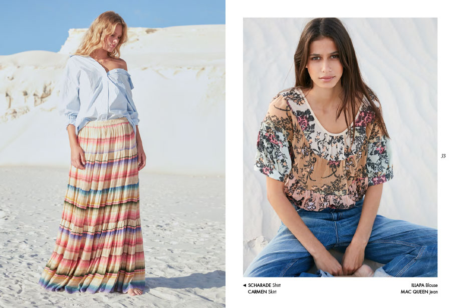 Mes Demoiselles – Shirt Sharade, skirt Carmen, blouse Illapa and jean Mac Queen