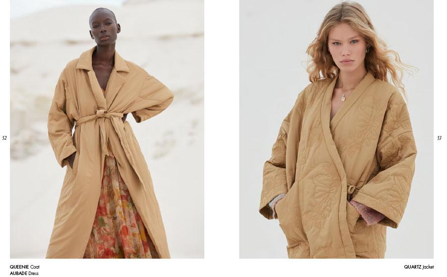 Mes Demoiselles – Coat Queenie, dress Aubade and jacket Quartz