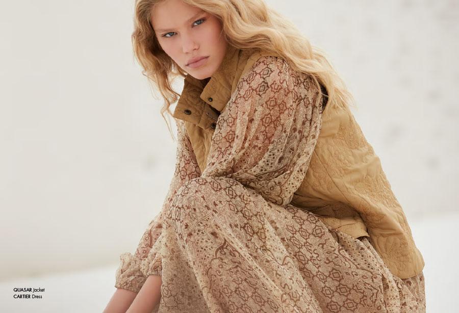 Mes Demoiselles – Jacket Quasar, dress Cartier, sweater Springs and skirt Luxor