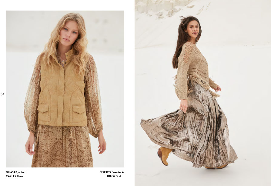 Mes Demoiselles – Dress Helix, sweater Picchu and skirt Cigaro