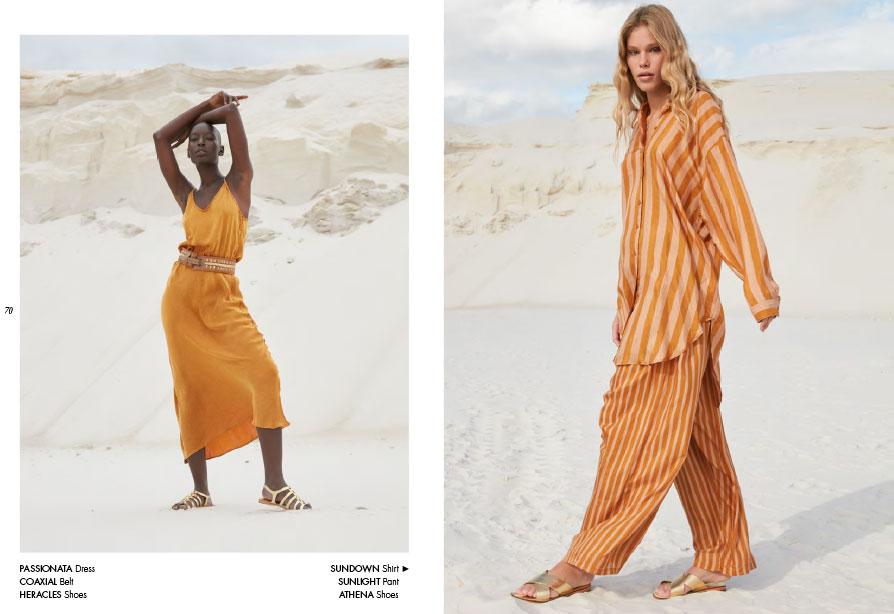 Mes Demoiselles – Dress Passionata, belt Coaxial, shoes Athena, shirt Sundown and pant Sunlight