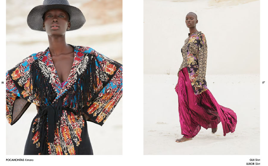 Mes Demoiselles – Kimono Pocahontas, shirt Gui and skirt Luxor