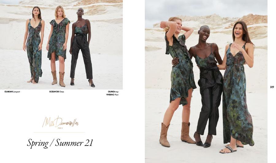 Mes Demoiselles – Jumpsuit Guarani, dress Godavori, top Guinea and pant Viverno